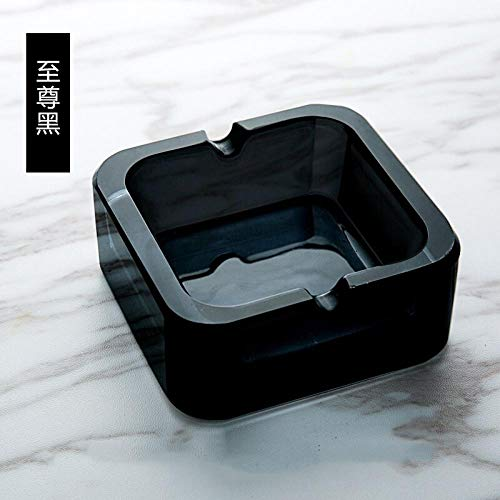 posacenere posacenere per Crystal ashtray creative fashion trend size office-Trumpet Supreme Black_Extreme Black