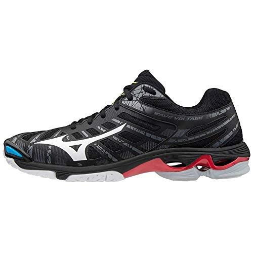 Mizuno Wave Voltage, Zapatillas de vóleibol Unisex Adulto, Negro/Blanco/199c, 44 EU
