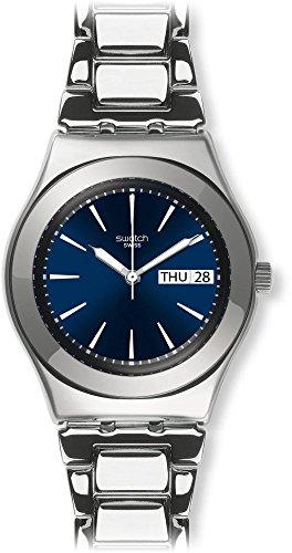 Swatch Orologio Analogico Classico Quarzo Unisex con Cinturino in Acciaio Inox YLS713G