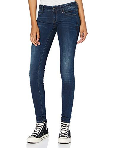 G-STAR RAW Damen Jeans 3301 Low Waist Super Skinny, Blau (Dk Aged 6553-89), 28W / 34L