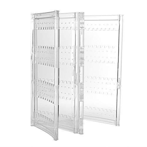 Organizador de joyería colgante - Pulsera plegable transparente Collar Pendiente Joyero Soporte de exhibición Caja de rack Caja de exhibición de joyería Joyas de joyería(#2 4 Door(240 slots))