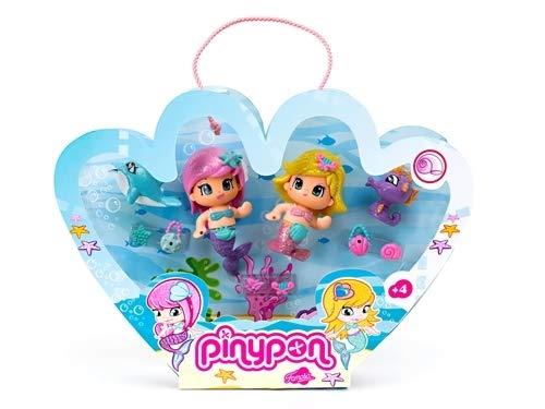 Pinypon Pack de 2 Figuras de Sirenas, para niños a partir d