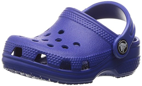 Crocs Classic Clog | Slip On Boys and Girls | Water Shoes, Cerulean Blue, US 2-3 Unisex Little Kid