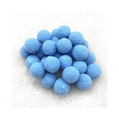 YVCHEN Fluffy Soft Pompom Plush Pom Poms Ball Pompones Handmade Sewing Craft Kids Toy Wedding Decor (Color : Lake Blue, Size : 8mm 300pcs)