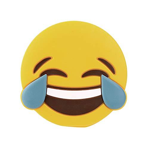 CoverKingz Emoji Powerbank 2600mAh externes tragbares USB Ladegerät für Handys und andere Geräte mit USB Anschluss, LOL Smiley