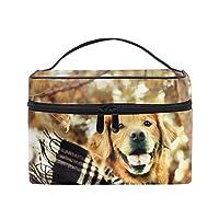 犬の顔突出舌スカーフトイレタリーバッグ 収納ケース メイク収納 小物入れ 仕分け収納 防水 大容量 出張 旅行用