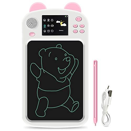GUYUCOM LCD Scrittura Tablet, 8,6 pollici Tablet Disegno con 336 diverse Immagini e supporto Voice English Reading, Grande strumento di apprendimento e giocattoli per Ragazzi Ragazzi.