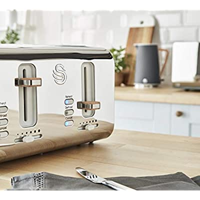 Details about Swan 4 Slice Nordic Toaster, 1500 W In Slate Grey ST14620GRYN
