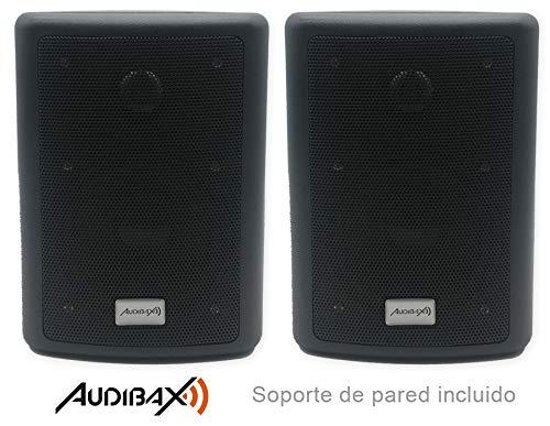 Audibax PR-41 Pareja Altavoces Sonorización 75 W con Soporte de Pared Incluido