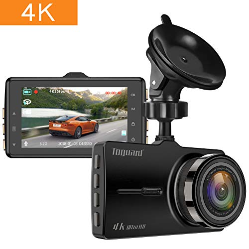 TOGUARD Dash Cam 4K UHD Car Dash Camera 3 Inch LCD Dashboard Camera with 170° Wide Angle, Parking Monitor, Loop Recording, G-Sensor