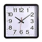 MeTikTok Non-Ticking Wall Clock Quartz Clock, Glass Anti-Fog Bathroom Digital Silent Modern Waterproof 11'/28Cm Vintage Square Movement Battery Operated Decorative Home Office Classroom Decor,Black