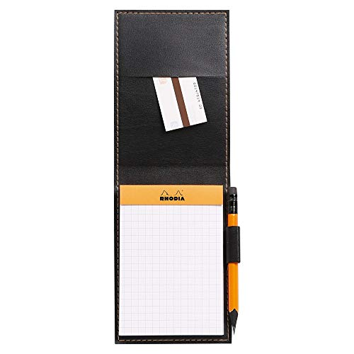 Rhodia Notepad with Cover, A7, Squared - Orange, 84 x 115 mm (118118C) Photo #2