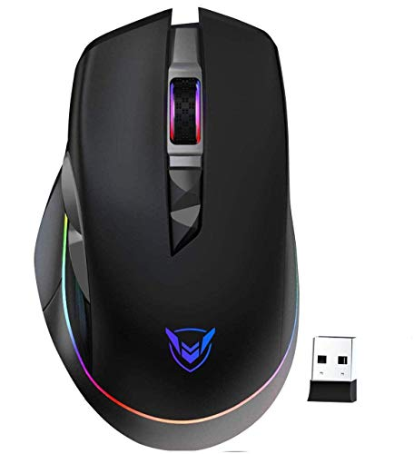 PICTEK Mouse Gaming Wireless RGB Ricaricabile, Mouse da...