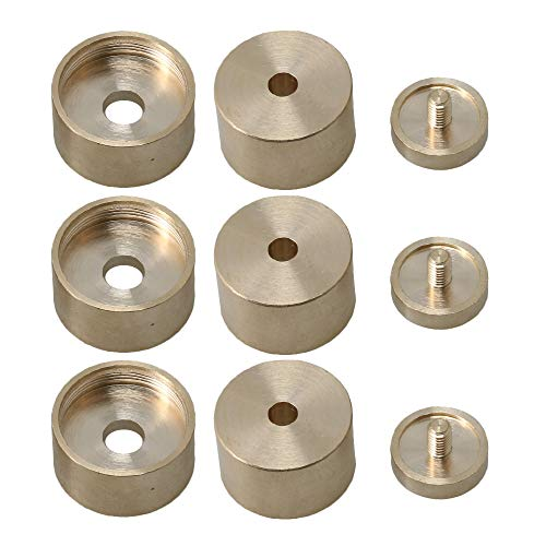 Fantastic Prices! 3 Sets of Bare Copper Trumpet Top Cover/Bottom Cover Finger Buttons