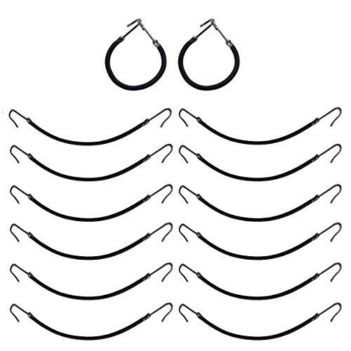 20pcs Ponytail Hooks Elastic Bands Hair Styling Hair Braid Hair Clips Rubber Bands