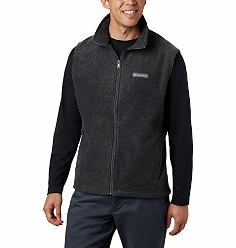 Columbia Men's Standard Steens Mountain Vest, Charcoal Heather, Small
