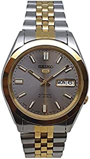 Seiko automatic 21 Jewels Calendar bicolor Stainless steel watch SNKC40J