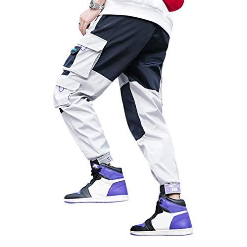 Irypulse Pantalones Carga Hombre Moda Callejera Urbana, Pantalóns de Combate Holgados Casual Deportivi, para Adolescentes, Jóvenes y Niños, Pantalone de Trabajo Múltiples Bolsillos - Diseño Original