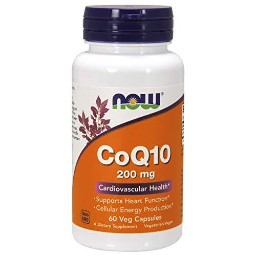 NOW Supplements, CoQ10 200 mg, 60 Veg Capsules