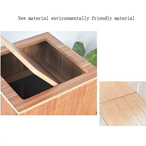 Simple Moderno De Madera con Tapa Cubos de Basura al Aire Libre de la casa Contenedores Oficina Restaurante Contenedores de Basura Papeleras Basura y Reciclaje Cubos de Basura para Exterior