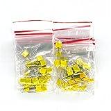 CHANGXINBH Condensadores Electrolíticos 50pcs / Lote Correction Capacitor Kit de Paquete 10 Valor Polypropylene Safety Film Film Capacitor Kit 1nf-0.47UF Set