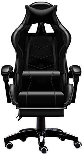 LILIS Racing Stuhl Gaming Stuhl Bürostuhl Stuhlspielstuhl, hochrücken elektronischer Sportstuhl mit Fußstütze Rennstil Videospielstuhl mit Kopfstütze und Massage Lendenkissen (Color : #1)