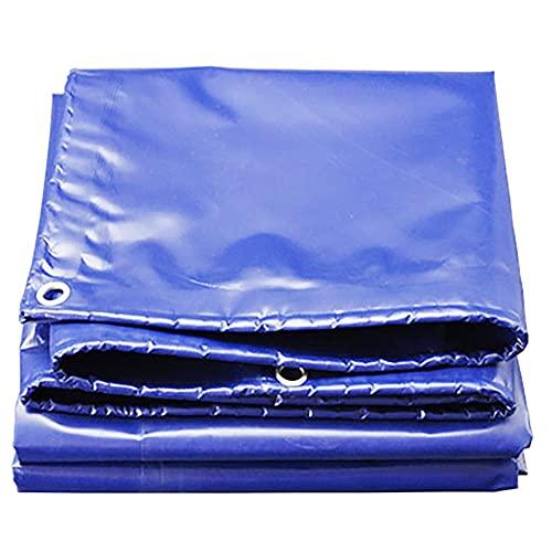 Lonas de Impermeable 2x2m Lonas con Ojales Lona de Jardínde PVC 550g/m² Azul Resistente a la Intemperie Resistente al nieve para cubrir Terraza Techo Estanque Remolque Pérgol(Size:2x7m6x23FT,Color:B)