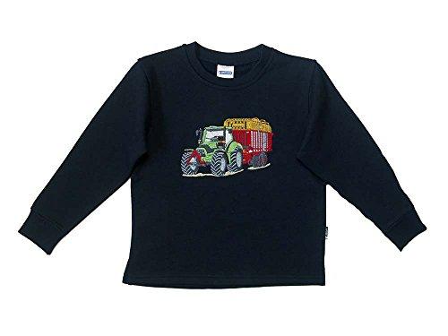 Zintgraf Sweatshirt Stickerei Traktor Tandem Silagewagen #J46 (92, Blau)