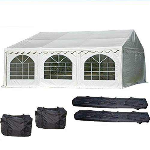 DELTA Canopies 20'x20' PVC Party Tent (FR) - Wedding Canopy Shelter White - Fire Retardant
