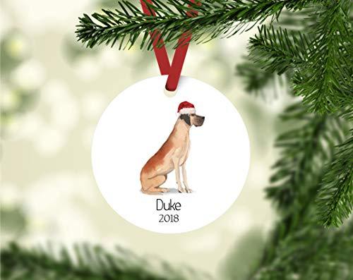 None-brands Christmas Xmas Decor 2020 Ornament Great Dane personalized ornament, personalized dog ornament, great dane owner Ornament, great dane ornament, personalized great dane