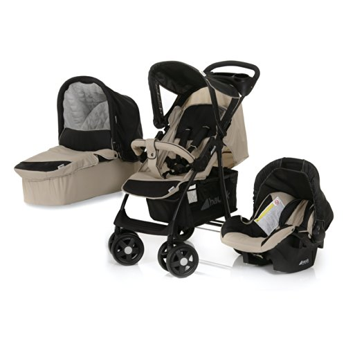 Hauck Shopper Trio Set - Carrito con capazo y grupo 0+, color negro/crema