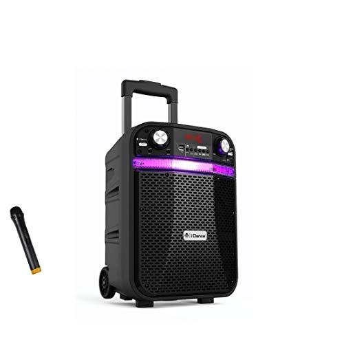 iDance Groove GR408X Altavoz Bluetooth Portatil, 200W, Micrófono Inalámbrico Incluido, Subwoofer, USB,...