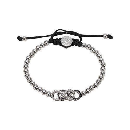 Goldoni Milano Double Infinity Bracelet - Rhodium