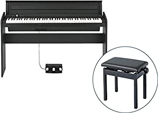 【純正高低自在イス PC-300 セット】 KORG/コルグ LP-180 BK 電子ピアノ ブラック
