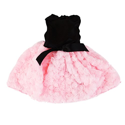 Robe Duveteuse Pour 18inch Poupée Fille Américaine - Noir et Rose