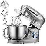 Cookmii Küchenmaschine 1500W Hohe Energie Knetmaschine 5.5 Liter-Rührschüssel, 6-stufige...