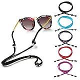 5 Stück Brillenband Eyewear Strap, Einstellbarer Brillenkette, Brillenband Sport schwimmfähig, Anti-Rutsch Sport Brillenkordel für Sonnenbrille, Schutzbrille und Lesebrille
