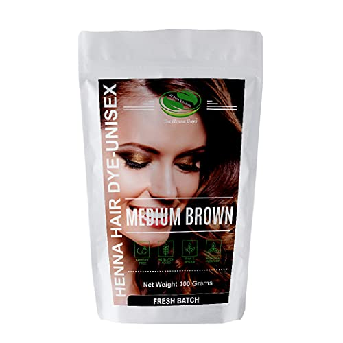 MEDIUM BROWN Henna Hair & Beard Color / Dye - 1...