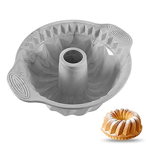 Brookton Molde de silicona jaspeado, fácil de desmoldar. Bandeja de pan para hornear, un imprescindible para panadería familiar, restaurante y otros utensilios de horneado (molde para tartas de gasa).