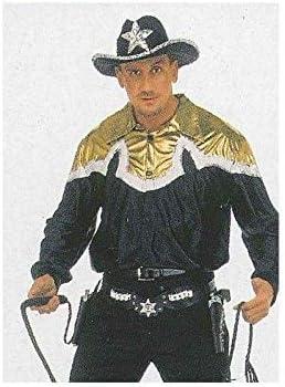 DISBACANAL Camisa de Cowboy - Negro y Oro, L: Amazon.es ...