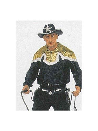 DISBACANAL Camisa de Cowboy - Negro y Oro, L