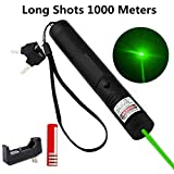 ThuZW Store Green Light Pointer High Power Visible Beam with Adjustable Focus for Hunting Hiking, Mini Flashlight Interactive Light Entertain and Train Your Cat Kitten Dog Pet