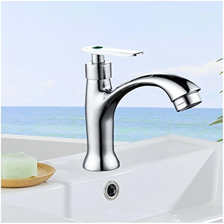 SHLONG Vollkupferkeramik-Ventileinsatzwaschbecken Einzelkaltwasserhahn Waschbecken Waschküche Einloch-Wasserhahn
