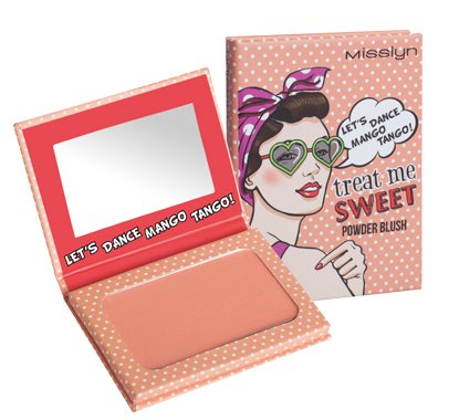 Misslyn Treat Me Sweet Powder Blush Nr.38 LET'S DANCE MANGO TANGO!, 6 g