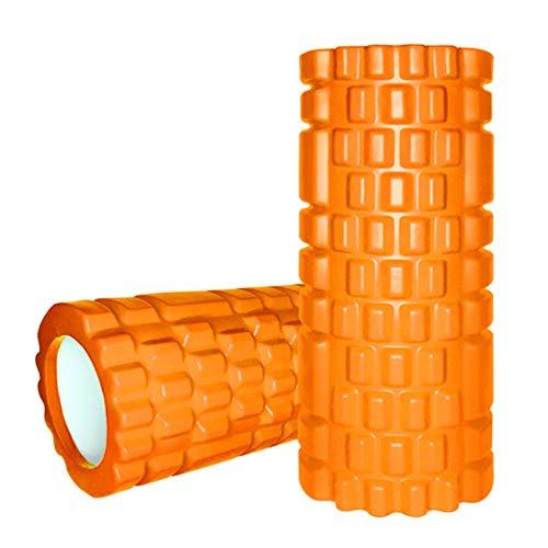 Gute - Rulli in schiuma, ultra leggeri, con nucleo cavo, per rilassamento profondo, massaggio muscolare, massaggio muscolare profondo, massaggiatore sportivo per la casa o la palestra (arancione)
