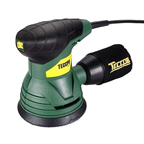 TECCPO Ponceuse Excentrique, 350W, 14,000 RPM, pour polir le bois aussi le métal, TARS22P Bricolage | Cadeau Noël 2019