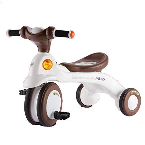 NBgycheche Triciclo Trike Trike Tricycle Kids, Ultra-Lightweight Silent Wheels 3 Wheeler Children Ride Pushing Manija Aprendizaje Bicicleta (Color : E)
