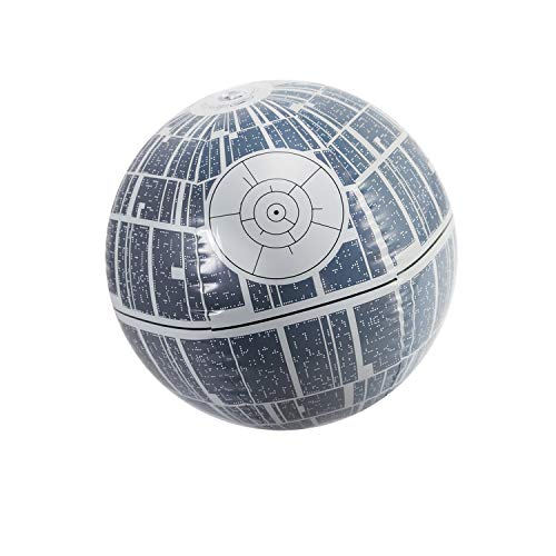 "14"" Gray Star Wars Death Star Large Light Up Inflatable Beach Ball Swimming Pool Toy"
