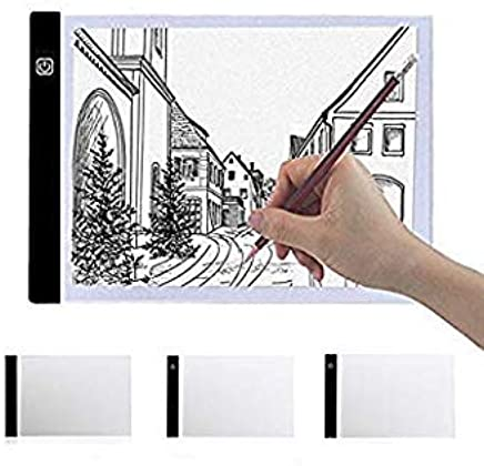 A4 2000LM USB 3Mode Diming LED Art Stencil Board Light Box Tracing Drawing Board Pad Table Work Lamp