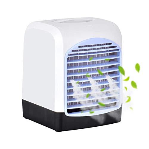 Queta - Mini condizionatore d aria 4 in 1 personale, con aromaterapia, 3 velocità, per camera da letto, soggiorno, ufficio, viaggio